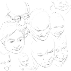sculpting from bim 1 scott eaton s bodies in motion Diamond Facial Sculpting expressions upper 3 4 quickdraw